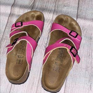 Birki's Pink Strap White Polka Dot